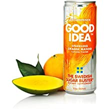 Good Idea Sparkling Orange Mango Water, 24 count, Helps Balance Your Blood Sugar After A Meal, All Natural, Sugar Free and Unsweetened – The Swedish Sugar Buster