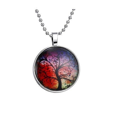 Darkey Wang Women Fashion Jewelry Life Tree Gemstone Necklaces ,I LOVE LIFE (Bloody Bolt Kit)