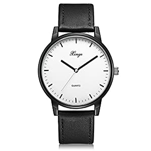 Men Quartz Wrist Watch-Leather Watch-Casual Watches-Simple Man Watches