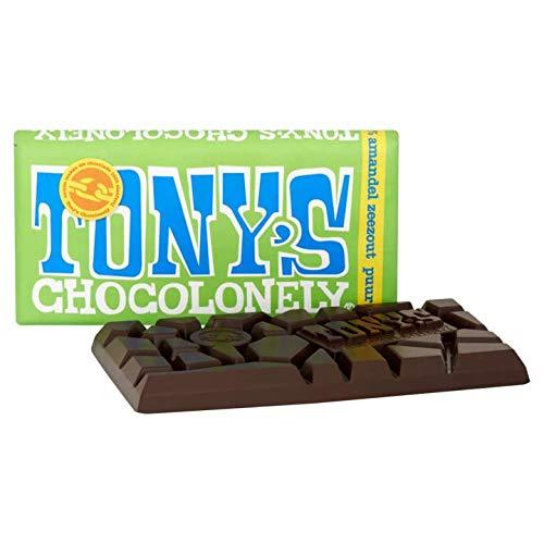 Tony's Chocolonely Dark Chocolate 51% with Almonds & Sea Salt 180 g