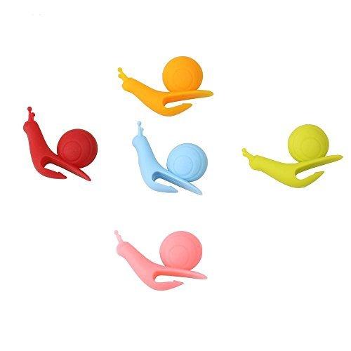 HeroNeo® New 5/10/20/50pcs Cute Snail Shape Silicone Tea Bag Holder Cup Mug Candy Colors Gift Set (5)