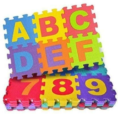 Play Mat 36 Tiles, Foam Kids Educational Interlocking Toys (36 Pieces)