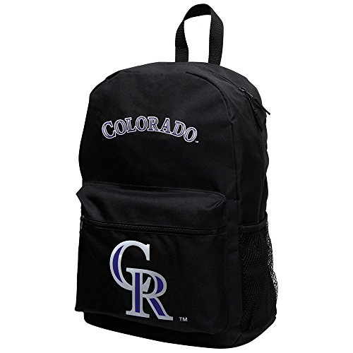 Concept One Accessories MLB Officially Licensed Sprint Black Backpack (Colorado Rockies)