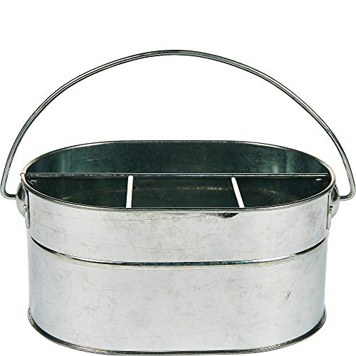 Ningbo Tiancheng Galvanized Metal Utensil Caddy, Metal, 4 Compartments, 6 3/4