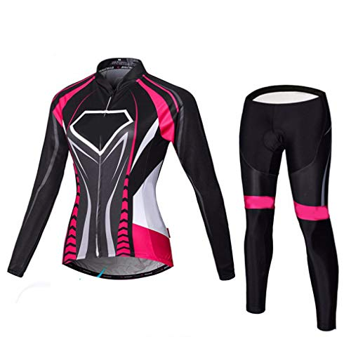 Winter Thermal Fleece Pro Team Long Sleeve Ski Suit Cycling Jerseys Gel Padded -