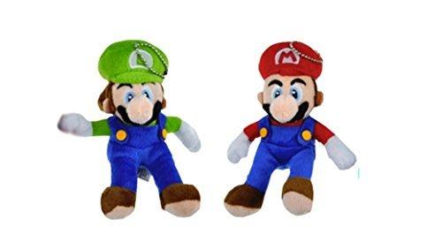 Mario Plush Keychain (Mario and Luigi 6 Plush Keychain Set by Super Mario Brothers)