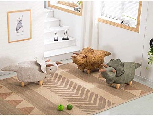 LXTIN Repose-Pieds Animal Ottomans rembourrés, créatif et Mignon Repose-Pieds escabeau Chaise Jambes en Bois Similicuir-a 102x35x37cm (40x14x15inch)