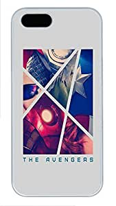 iPhone 5 5S Case The Avengers Retro Poster743 PC Custom iPhone 5 5S Case Cover White
