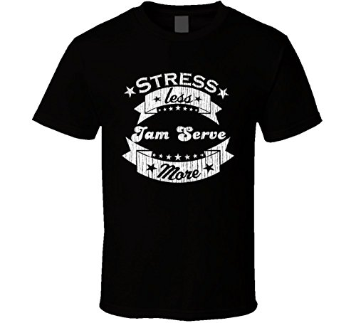 Jam Provide More Stress Less Funny Worn Look Racquetball T Shirt 2XL Black