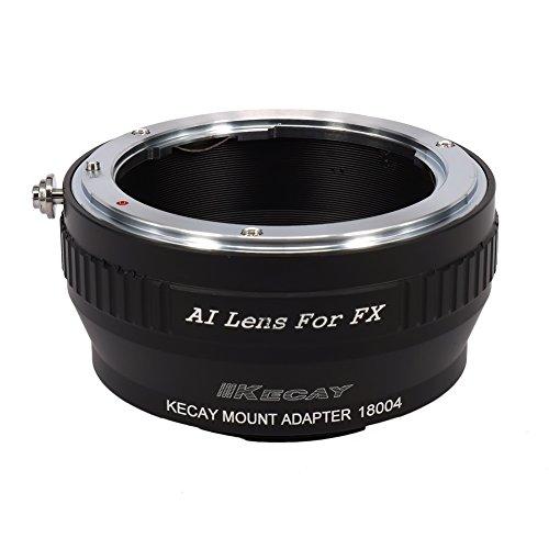 KECAY NIKON-FX Lens Mount Adapter for Nikon Ai Lens To Fujifilm X-Series Mirrorless Camera, X-Pro1, X-E1, X-E2, X-A1, X-M1, X-T1, X-T10, Ai To FX