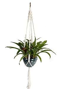 Colgante para planta de macramé Magiin, cuerda de nailon 4 tiras. Colgante decorativo para balcón interior 101cm