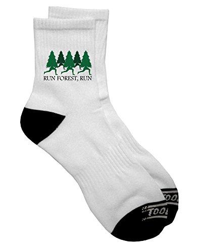 TooLoud Run Forest Run Funny Adult Short Socks Mens sz. 9-13 -
