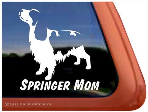 Springer Mom ~ Springer Spaniel Dog Vinyl Window Decal ()