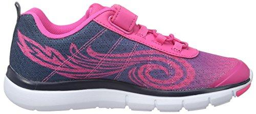 EB kids Twist Vs, Zapatillas Para Niñas Rosa (PINK/MARINE)