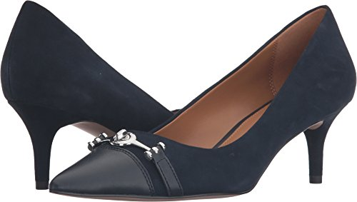 Coach Damesschoenen Lauri Pointed Teen Klassieke Pumps Midnight Navy / Midnight Marine Lux Suede / Silky Nappa