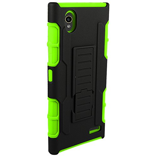 ZTE Warp Elite Case (N9518) Guardian Holster Combo Case with Belt Clip and Kickstand - Green by ElBolt TM with Free HD Screen Protector Photo #3