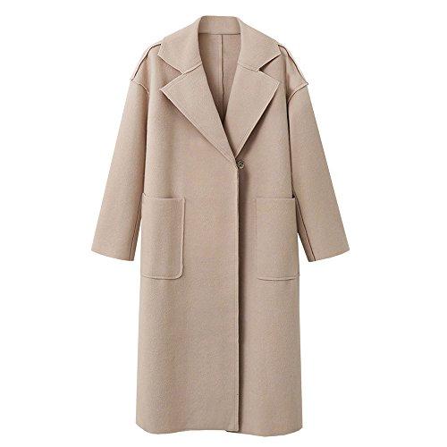 Cashmere Fixture (POTO Wool Coats for Women,Fashion Ladies Winter Lapel Woollen Jacket Coat Cardigan Trench Coat Overcoat Outwear)