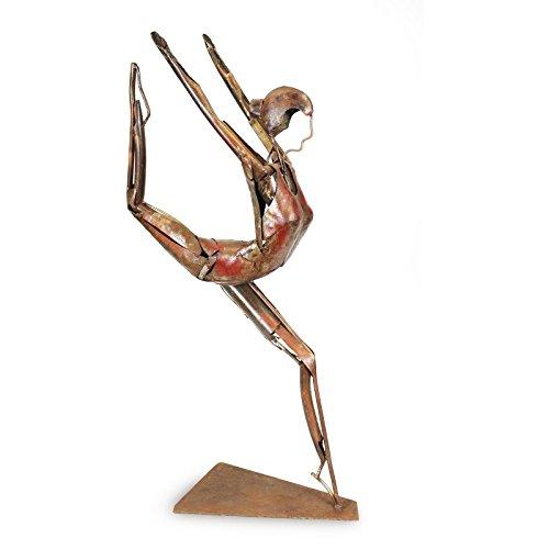 Hierro Dancer Escultura Bailarina Ballet Mujer adorno decoración decoración Arte