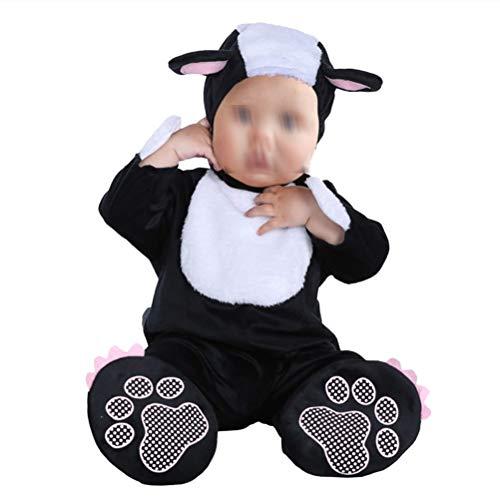 YeahiBaby Baby Girls Boys Animal Pajamas Halloween Hooded Sleepsuit Sleepwear Nightwear Costume Outfit Size M (Weasel Pattern)]()