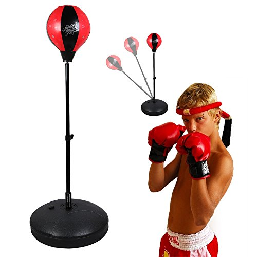Assolar(TM) B77 Adjustable Speed Punching Bag Stands with Punching Gloves Boxing Set by Assolar