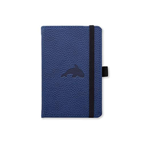 "Dingbats D5417BL A6 Pocket Squared""Wildlife Portrait Pocket Hardcover"" Notebook - Blue Whale"