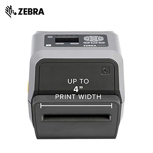 Zebra - ZD620t Thermal Transfer Desktop Printer with LCD Screen - Print  Width 4 in - 203 dpi - Interface: WiFi, Bluetooth, Ethernet, Serial, USB -