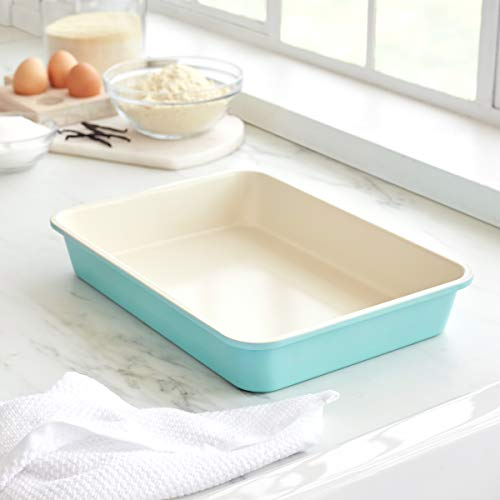 "GreenLife 9""x13"" Ceramic Non-Stick Cake Pan, Turquoise , Rectangle -"