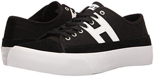 HUF Men's Hupper 2 LO Skateboarding Shoe, Black/White, 10.5 Regular US