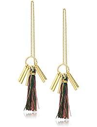 Womens Morocco Tassel Threader Earrings