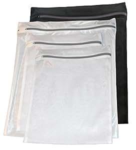 InsideSmarts Delicates Laundry Wash Bags, Set of 4 (2 Medium & 2 Large)