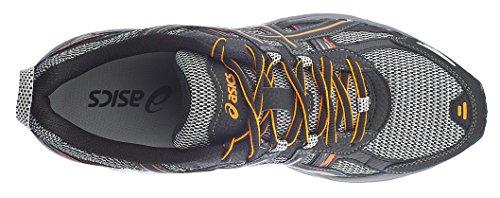 Asics Hommes Gel Venture 5 Chaussure De Course Noir / Choquant Orange