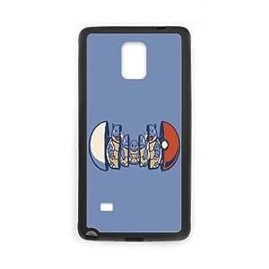 Squirtle Evolution Samsung Galaxy Note 4 Case, [Black]