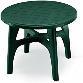 Mesa Ovalada para exterior, Mesa Resina 120 x 100, mesa verde para jardín: Amazon.es: Hogar
