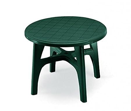 Mesa Ovalada para exterior, Mesa Resina 120 x 100, mesa verde para ...