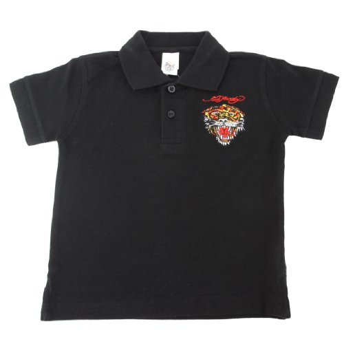 Ed Hardy Little Boys' Tiger Polo Shirt - Black - ()