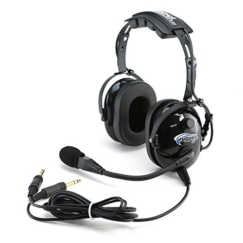 Rugged Air RA200 Black General Aviation Pilot (Bose Aviation Headset)