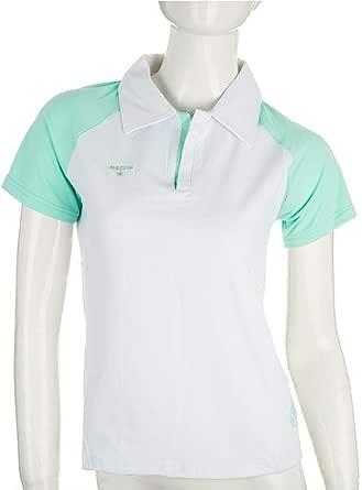Mesuca 1284 T-Shirt For Women-White Turquoise, 2 X Large