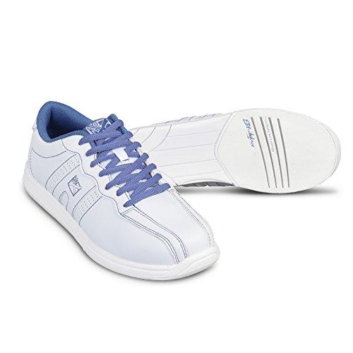 KR Strikeforce Women's O.P.P Bowling Shoes, White/Periwinkle, Size 8