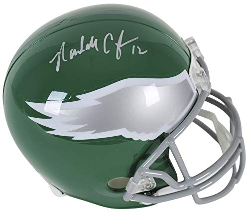 (Eagles Randall Cunningham Authentic Autographed Signed Full Size Rep Helmet Bas Witnessed)