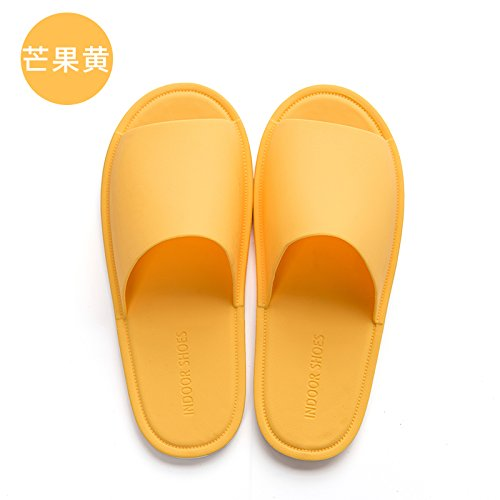 The summer female soft summer bottom slip cool Yellow men's home household 39 anti slippers bathroom fankou indoor 40 slippers bath pwRXdqpx