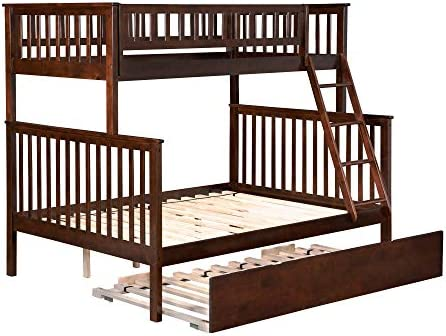 Atlantic Furniture Woodland Bunk Twin Size Urban Trundle Bed