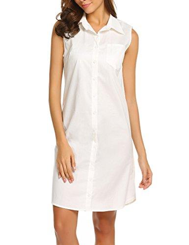 Bianco Camicia notte Donna da Pairkal I8wdzqaq