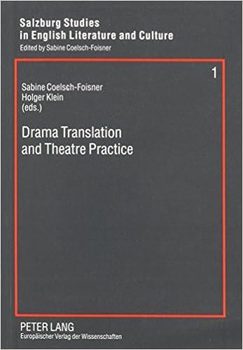Drama Translation and Theatre Practice Salzburg Studies in English Literature and Culture, 1: Amazon.es: Sabine Coelsch-Foisner, Holger Klein: Libros en ...