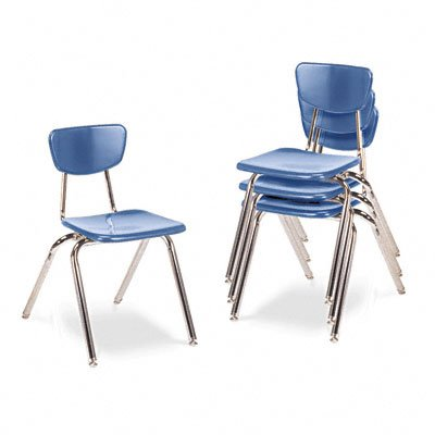 Virco Stacking Chair - Virco Student Chair, Sky Blue, 18