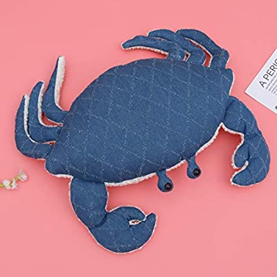 VOSAREA Crab Animal Pillow Denim Cover Toy Lumber Pillow Cotton Core Stuffed for Home Boys Girls Birthday Gift : Baby