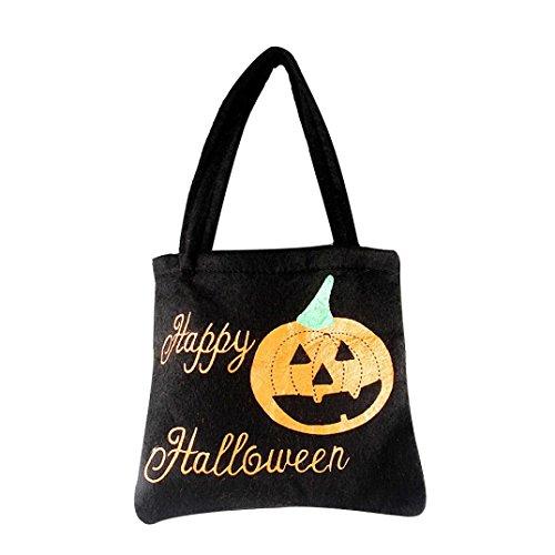 Kinghard Halloween Pumpkin Witch Sugar Bag Bag Children 's Party Storage Bag Gift Halloween candy bag,Trick or treat! (Preschool Halloween Party Invitations)