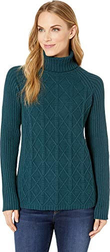 (Royal Robbins Women's Frost Turtleneck Reflecting Pond X-Small )
