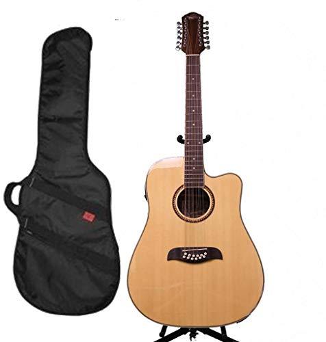 Oscar Schmidt 12 String A/E Guitar w/ Kaces Padded Gig Bag, Natural, OD312CE (String Oscar Schmidt 12)