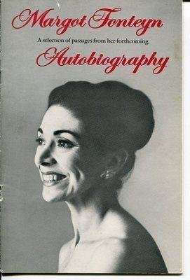 Margot Fonteyn Ballet Dance Autobiography Original Rare 1975 Promotion by HollywoodMemorabilia