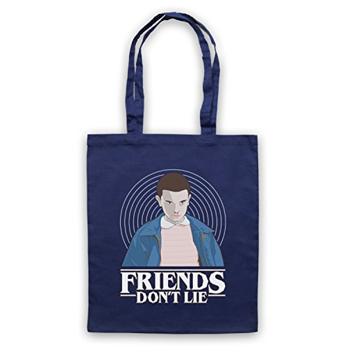 Eleven Stranger 11 Navy Bag Friends Elle Things Lie Don't Blue Tote 77qREHx